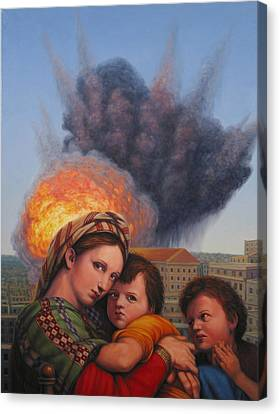 Madonna And Child Canvas Print - Raphael Moderne by James W Johnson