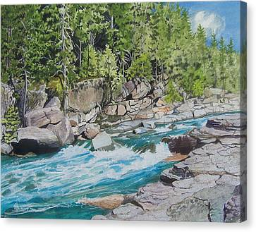 Rapid River Canvas Print