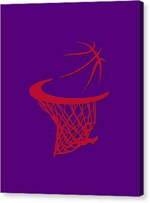 Raptors Basketball Hoop Canvas Print