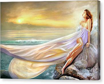 Rapture In Midst Of The Sea Canvas Print by Michael Rock