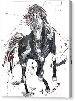 Jumping Horse Canvas Print - Rapture by Penny Warden