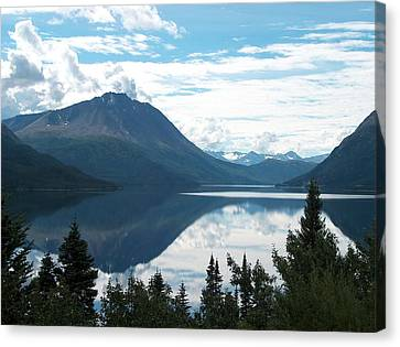Rare Moment On Tutchi Lake Canvas Print by Janet  Hall