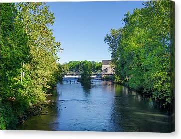 Raritan River - Clinton New Jersey  Canvas Print by Bill Cannon
