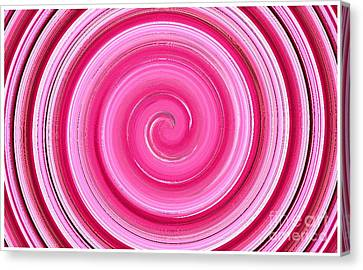 Canvas Print featuring the digital art Rasberry Ripple  by Fine Art By Andrew David