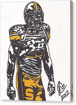 Steelers Canvas Print - Rashard Mendenhall 2 by Jeremiah Colley