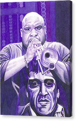 Dave Matthews Band Canvas Print - Rashawn Ross by Joshua Morton