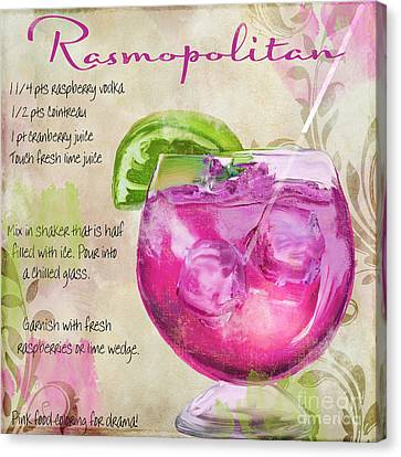 Bloody Mary Canvas Print - Rasmopolitan Mixed Cocktail Recipe Sign by Mindy Sommers
