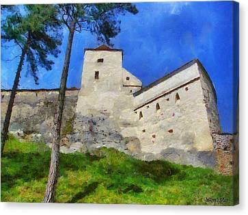 Rasnov Fortress Canvas Print by Jeff Kolker