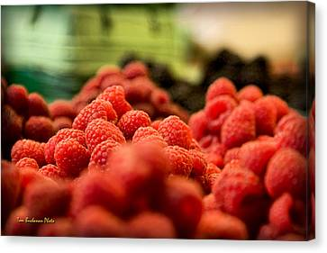 Raspberries At The Market Canvas Print