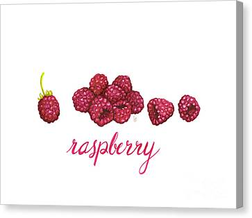 Canvas Print featuring the painting Raspberry by Cindy Garber Iverson