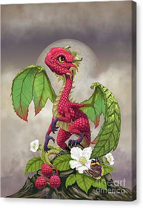 Canvas Print featuring the digital art Raspberry Dragon by Stanley Morrison