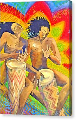 Rasta Rythm Canvas Print by Jennifer Baird