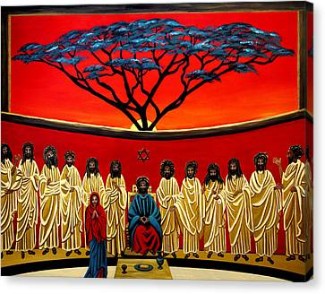Rastafarian Last Supper Canvas Print by EJ Lefavour