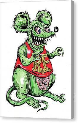 Rat Fink Canvas Print by Marco DiLeonardo