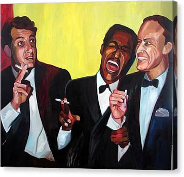Rat Pack Canvas Print by Carmen Stanescu Kutzelnig