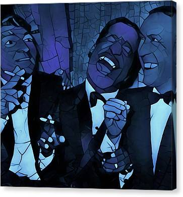 Rat Pack Cool Graphic Abstract Canvas Print by Dan Sproul