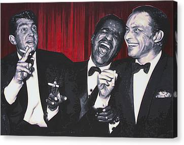 Rat Pack Canvas Print by Luis Ludzska