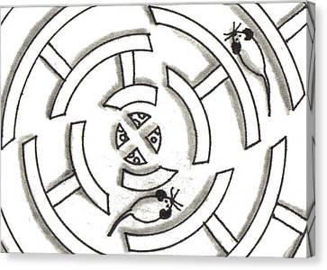 Rat Race Mouse Maze Canvas Print by Joshua Hullender