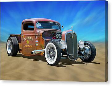 Canvas Print featuring the photograph Rat Truck On The Beach by Mike McGlothlen