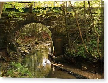Rausch Gap Bridge Canvas Print by Lori Deiter