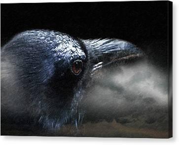 Dust Canvas Print - Raven Conspiracy Conceptual Art by Georgiana Romanovna