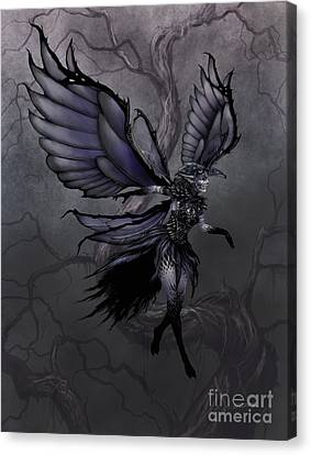 Canvas Print featuring the digital art Raven Fairy by Stanley Morrison