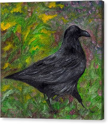 Raven In Goldenrod Canvas Print