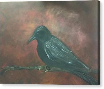 Raven Canvas Print by Lori Thompson