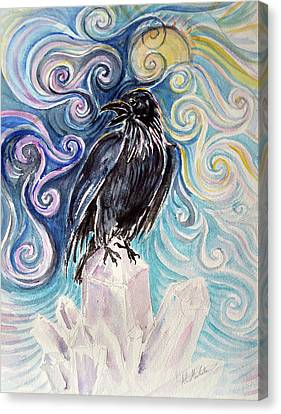 Raven Magic Canvas Print