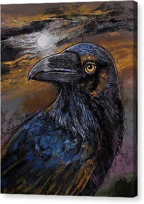 Raven Canvas Print by Michael Creese