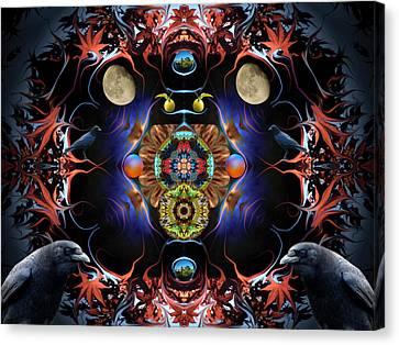 Raven Moon #2 Canvas Print