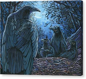 Canvas Print - Raven Nest by Nadi Spencer