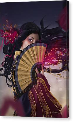 Europe Digital Art Canvas Print - Raven - Portrait by Cassiopeia Art