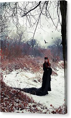 Gothic Canvas Print - Raven Queen by Cambion Art