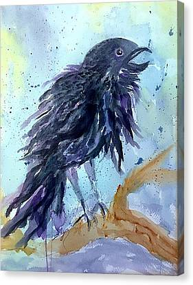 Raven Speaks  Canvas Print
