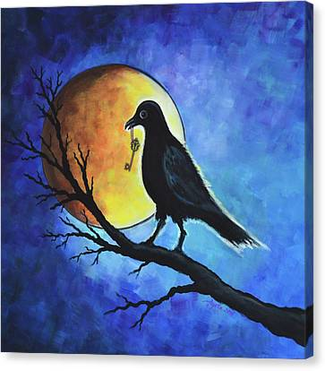 Raven With Key Canvas Print