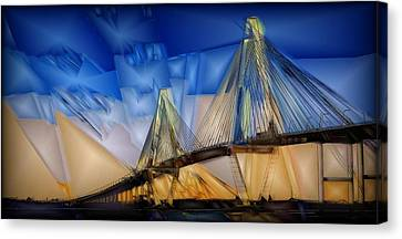 Architectural Art Canvas Print - Ravenel At Dusk by Jon Glaser