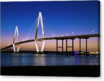 Canvas Print featuring the photograph Ravenel Bridge 2 by Bill Barber