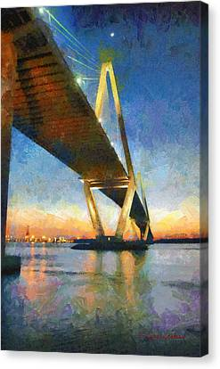 Ravenel Bridge Canvas Print