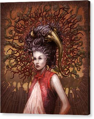 Ravenous Pregnancy In Color Canvas Print by Ethan Harris