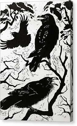 Calling Canvas Print - Ravens by Nat Morley