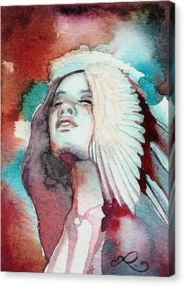 Canvas Print featuring the painting Ravensara by Ragen Mendenhall