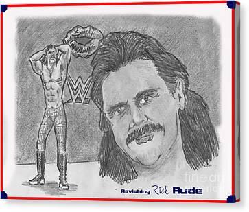 Ravishing Rick Rude Canvas Print by Chris  DelVecchio