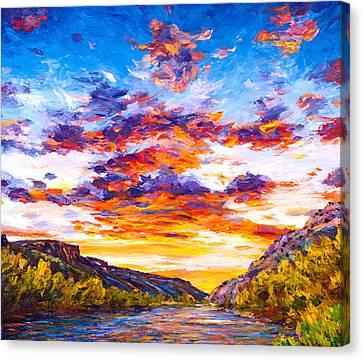 Ravishing River Canvas Print by Steven Boone