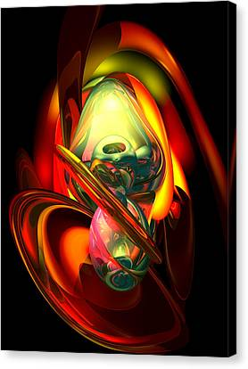 Raw Fury Abstract Canvas Print by Alexander Butler