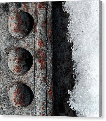 Raw Steel...on Ice Canvas Print