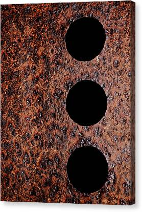 Raw Steel...oxidation...vertical Canvas Print by Tom Druin