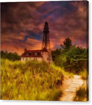 Rawley Point Lighthouse Canvas Print by Joel Witmeyer
