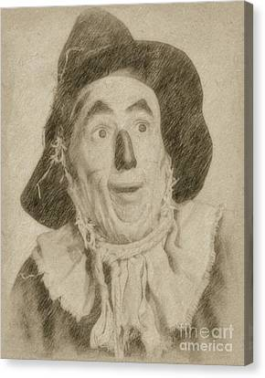 Ray Bolger, Scarecrow, Wizard Of Oz Canvas Print by Frank Falcon