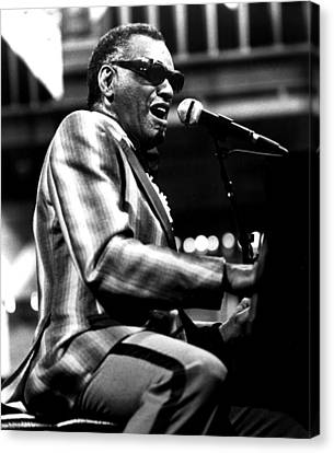 Ray Charles, Ca. 1980 Canvas Print by Everett